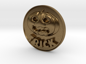 Trick Or Treat Coin in Natural Bronze