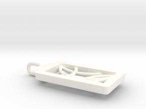 Framed Pendant in White Processed Versatile Plastic