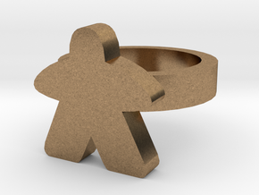 Ginger Bread Ring in Natural Brass