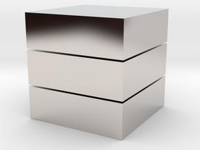 Cubic 1x1x3 4cm in Platinum