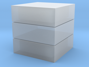 Cubic 1x1x3 3cm in Smooth Fine Detail Plastic