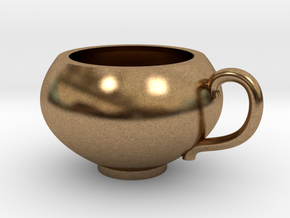 Pendentif Tasse de Thé - Pendant Teacup in Natural Brass