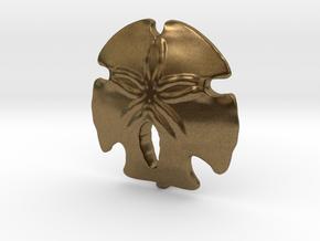 Sand Dollar Pendant in Natural Bronze