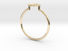 Open Circle Ring Sz. 6 in 14K Gold