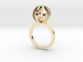Sphere outlines ring in 14K Yellow Gold