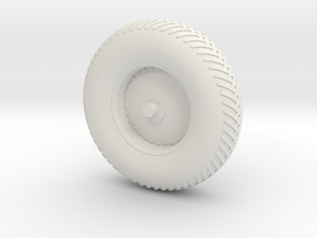 09B-LRV - Back Right Wheel in White Natural Versatile Plastic