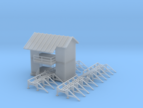 Saw Mill Out Building Z Scale in Smooth Fine Detail Plastic