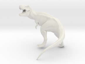T Rex Roaring 16 cm long.   in White Strong & Flexible