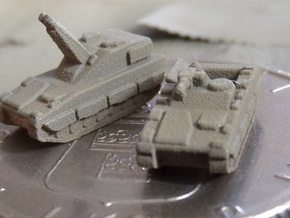 3mm CV90 Artillery Units (12 Pcs) in White Natural Versatile Plastic