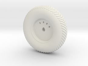 08B-LRV - Back Left Wheel in White Natural Versatile Plastic