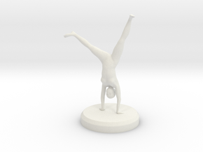 Female Gymnastics - Cartwheel in White Natural Versatile Plastic