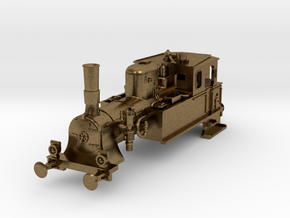 DSB F N scale (standard extended coal box) in Natural Bronze