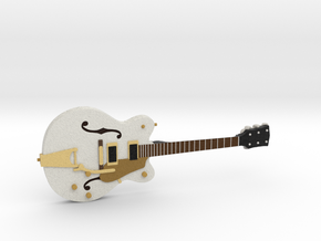 Big Old Style Hollow Body Guitar 1:18 in Full Color Sandstone