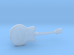 Big Old Style Hollow Body Guitar 1:18 in Smooth Fine Detail Plastic