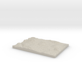 Model of Dreadnought Island in Natural Sandstone