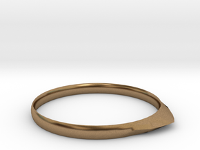 Edge Ring US Size 6 UK Size M in Natural Brass