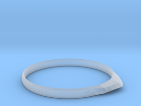 Edge Ring US Size 6 UK Size M in Smooth Fine Detail Plastic