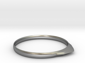 Edge Ring US Size 6 UK Size M in Natural Silver