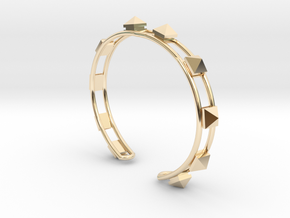 Open Studded Cuff in 14K Yellow Gold