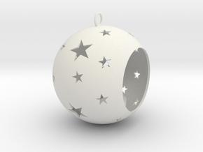 Christmas Bauble Tealight Stars in White Natural Versatile Plastic