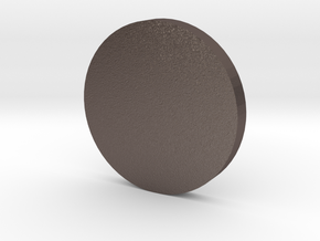 Coin in Polished Bronzed Silver Steel