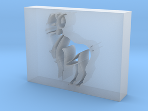 Ram outline in Smooth Fine Detail Plastic