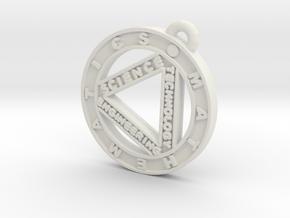 STEM Circle Pendant in White Natural Versatile Plastic