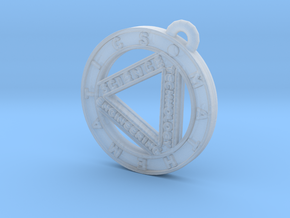 STEM Circle Pendant in Smooth Fine Detail Plastic