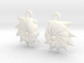 Cristellaria earrings in White Processed Versatile Plastic