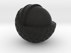 Golf Ball Cutted in Black Natural Versatile Plastic