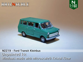 Ford Transit Kleinbus (N 1:160) in Smooth Fine Detail Plastic