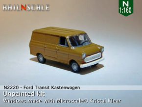 Ford Transit Kastenwagen (N 1:160) in Smooth Fine Detail Plastic