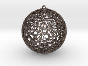 Ornament K0003 in Polished Bronzed Silver Steel