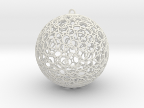 Ornament K0003 in White Natural Versatile Plastic