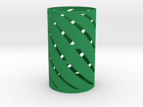 Spiral Pen Holder in Green Strong & Flexible Polished