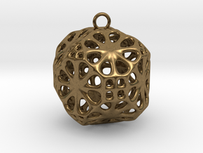 Christmas Bauble No.3 in Natural Bronze