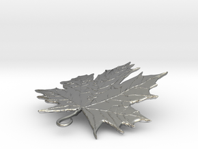 LEAF PENDANT in Raw Silver