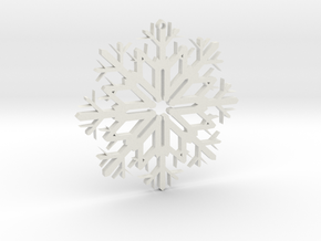 SnowFlake Design in White Natural Versatile Plastic