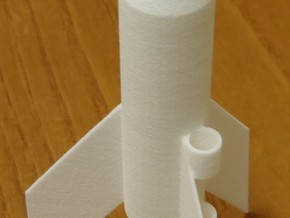 Estes mini rocket in White Natural Versatile Plastic