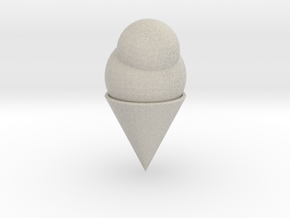 Ice Cream Cone in Natural Sandstone