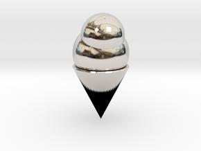 Ice Cream Cone in Platinum