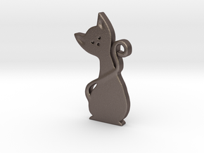 Gatto 3 cm in Polished Bronzed Silver Steel