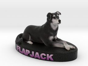 Custom Dog Figurine - Flapjack in Full Color Sandstone