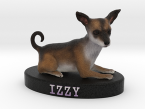 Custom Dog Figurine - Izzy in Full Color Sandstone