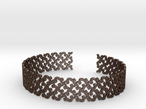 Khandi bangle E in Matte Bronze Steel