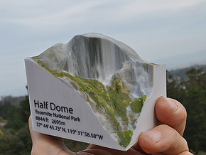Full Color Half Dome Model in Full Color Sandstone