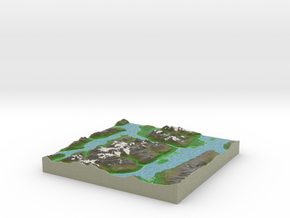 Terrafab generated model Mon Oct 06 2014 10:03:29  in Full Color Sandstone