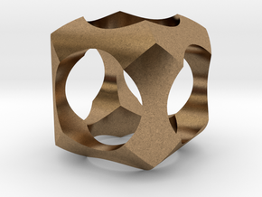 Intersection in Natural Brass