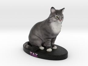 Custom Cat Figurine - Taz in Full Color Sandstone