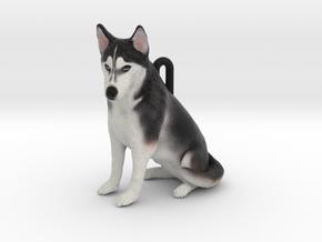 Custom Dog Ornament - Nikita in Full Color Sandstone